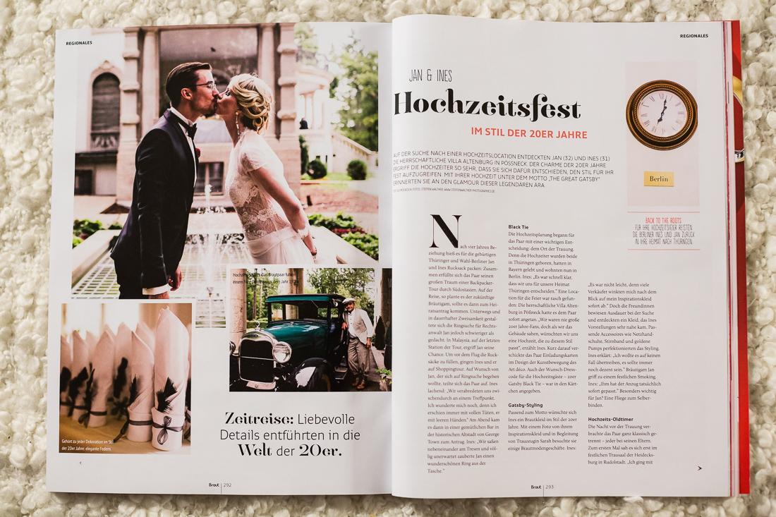 Hochzeit Villa Altenburg Pößneck, Brautmagazin Artikel