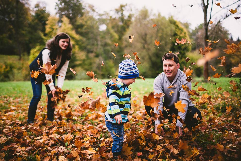 Familienfoto im Ilmpark Weimar von Steffen Walther, Fotograf Jena