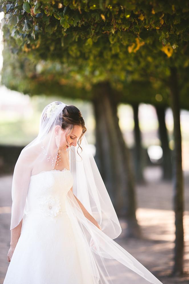 Hochzeitsfoto auf der Wasserburg Geldrungen von Fotograf Jena