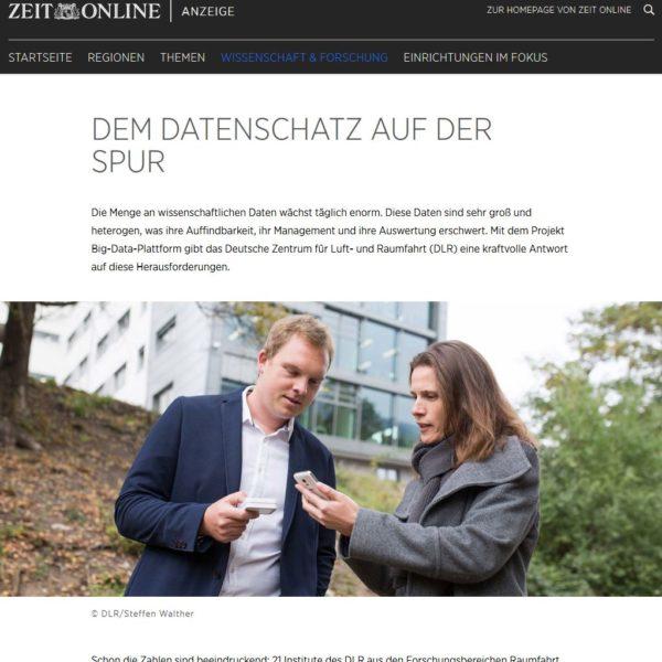 Zusammenarbeit mit dem Deutschen Zentrum für Luft- und Raumfahrt für ZEIT-Online - Fotoreportage
