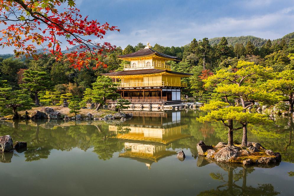 Momiji Japan im Herbst, Reisefotografie, kyoto, golden temple